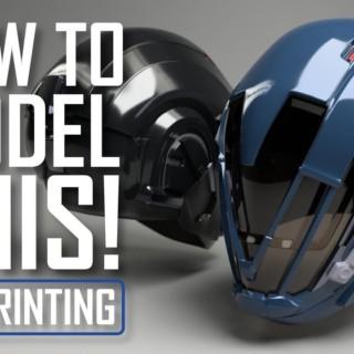 Modeling a Destiny Cosplay Helmet in Blender
