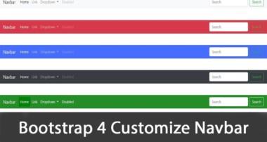 Customize Navbar Bootstrap 4 tutorial 2018