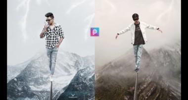 PicsArt Creative Manipulation Rope Walking Photo Editing Tutorial in PicsArt Step by Step in hindi