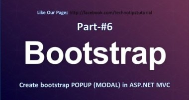 Bootstrap Tutorial – #6 Create Popup in Asp.Net MVC (Bootstrap Modal )