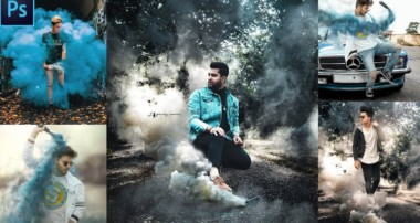 Smoke Bomb Effect Instagram viral photo editing  Photoshop Tutorial