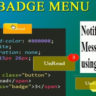 css notification icon || css unread icon || css menu || badge without bootstrap || css