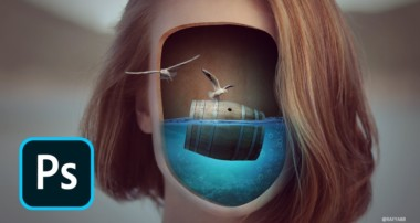 Surreal Face Underwater Photo Manipulation Photoshop Tutorial