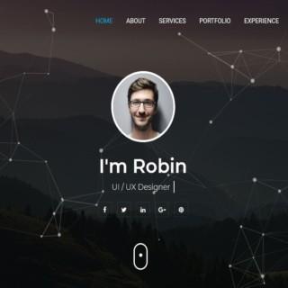 Robin – Personal Portfolio HTML Template | Bootstrap Portfolio Website