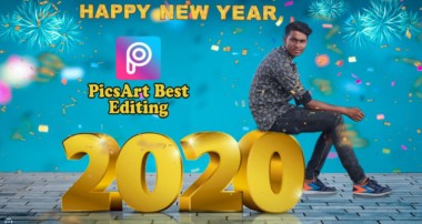 PicsArt Happy New Year 2020 Photo Editing Tutorial in picsart Step by Step