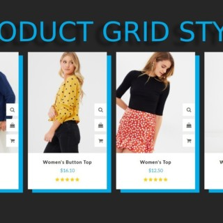 Product Grid Design with awesome hover effect using HTML, CSS and Bootstrap