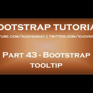 Bootstrap tooltip