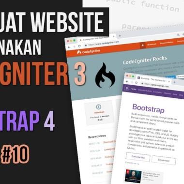 NGOBAR#10 : Membuat WEBSITE menggunakan CODEIGNITER 3 dan BOOTSTRAP 4 (bagian 2)