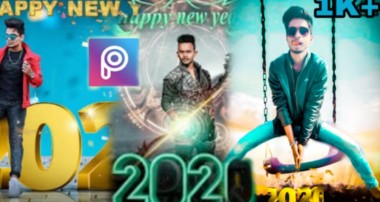 Happy New year photo editing tutorial new concept Picart lightroom Step by step in Hindi