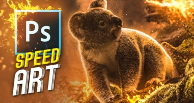 Koala's Downfall | Speed Art (photoshop)