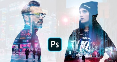 Quick Double Exposure Cyberpunk Photo Effect Photoshop Tutorial