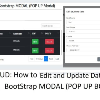PHP CRUD: Bootstrap Modal: Edit and Update Data into Database in PHP