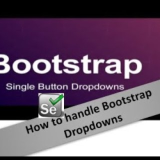 How to handle Bootstrap DropDown in Selenium – Session – 19