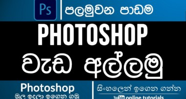 Photoshop Beginner Course (Sinhala)- Part 01 – Quick Overview