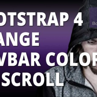 Bootstrap 4 Change Navbar Background Color On Scroll