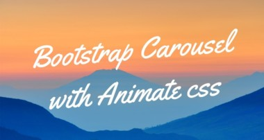 Bootstrap Slider with Animate CSS | Bootstrap Slider with Text Animation