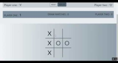 Tic Tac Toe in HTML, CSS,  JAVASCRIPT, BOOTSTRAP