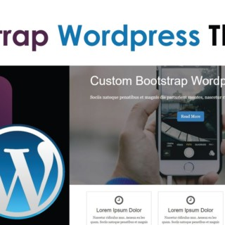 WordPress Theme With Bootstrap [3] – Menu With Dropdown