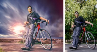 Bike boy adventure photo manipulation | photoshop tutorial cs6/cc