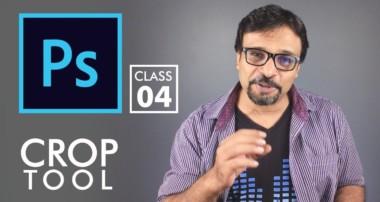 Crop Tool – Adobe Photoshop for Beginners – Class 4 – Urdu / Hindi