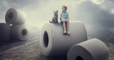 Tissue Roll Photo Manipulation Photoshop Tutorial Composite
