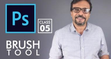 Brush Tool – Adobe Photoshop for Beginners – Class 5 – Urdu / Hindi