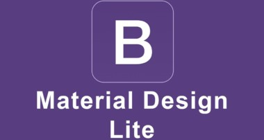 Bootstrap and Material Design Lite Project Tutorial