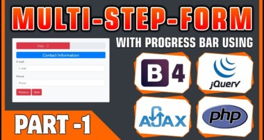 #01 Multi-Step-Form With Progress Bar Using Bootstrap 4, jQuery, Ajax & PHP | Form Design With BS4