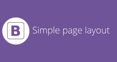 Bootstrap tutorial 22 – Creating a simple page layout (final video)