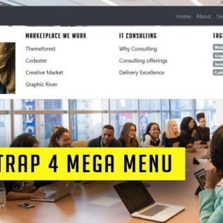 How to make a simple Bootstrap 4 mega Menu | Responsive bootstrap 4 mega menu