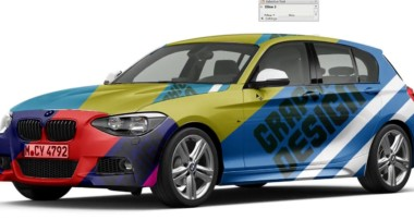 Photoshop Tutorial cs6 Car Mockup complete process Using Smart Object