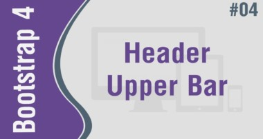 Bootstrap 4 Theme 1 in Arabic #04 – Header Part 1 – Create Upper Navbar