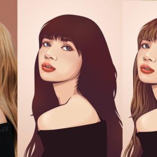 Simple Vector Art Hair Portrait Photoshop Tutorial