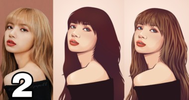 Simple Vector Art Hair Portrait Photoshop Tutorial