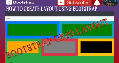 layout creation using bootstrap grid system || bootstrap tutorial