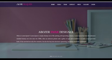 Template html css jquery bootstrap wowjs (front end web developer)
