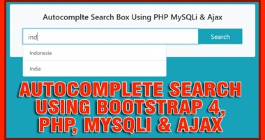 Autocomplete Search Record From Database Using Bootstrap 4, PHP, MySQLi & Ajax