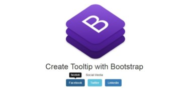 Tooltip CSS Bootstrap using HTML