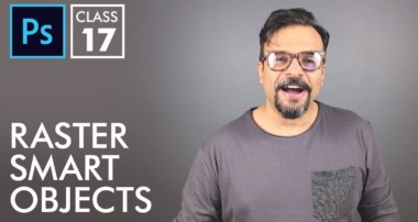 Raster Smart Objects – Adobe Photoshop for Beginners – Class 17 – Urdu / Hindi