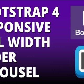 Bootstrap 4 – Responsive Full Width Slider Carousel with Bootstrap 4 and Brackets Text Editor