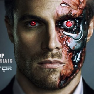Photoshop tutorial | terminator face | Terminator Effect