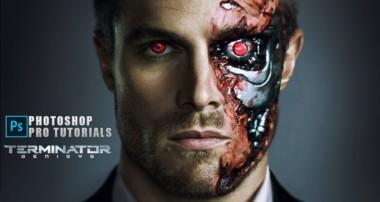 Photoshop tutorial   terminator face   Terminator Effect