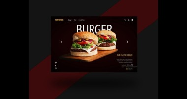 Burger Landing Page UI Design | HTML, CSS and bootstrap part [1/3]