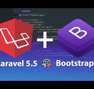 How to install and configure Laravel 5.5 with Bootstrap 4