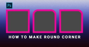 How to Make Round Corners in Photoshop cs6 in Hindi/Urdu