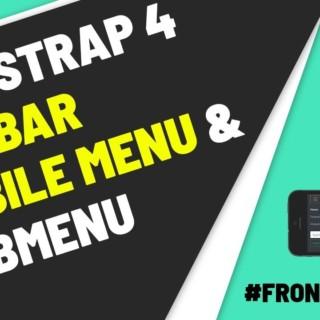 Bootstrap 4 Sidebar Menu Responsive with Sub menu