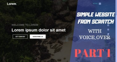 Simple Website Part 1 | HTML 5 CSS 3 JavaScript And Bootstrap 4 From Scratch