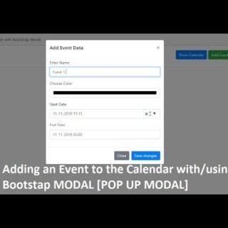 Event Calendar with Bootstrap Modal | Add event data (full Calendar)