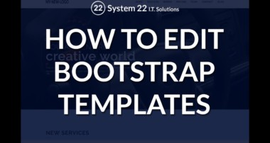 Bootstrap – How to edit a bootstrap template
