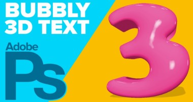 How to Create 3D Bubbly Text in Photoshop CS6 Extended+